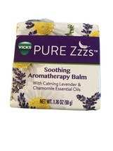 VICKS PURE Zzzs Soothing Aromatherapy Balm Calming Lavender Chamomile NEW - $8.90