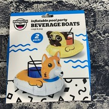 Bigmouth Inflatable Pool Party Beverage Boats Coaster Float Drink Corgi ... - $9.89