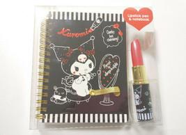Kuromi Lipstick Pen& Note Book Sanrio Cute Rare Goods - $27.10