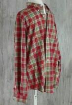 Ralph Lauren Mens Shirt 16.5 L Classic Fit Button Front Red Plaid Front ... - $23.65