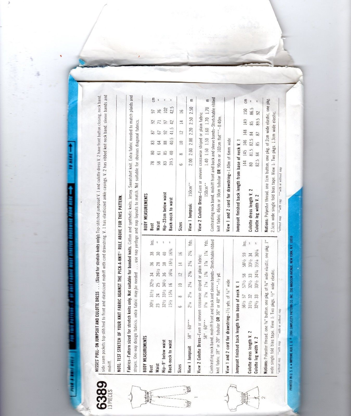 Simplicity 6389 80s Oleg Cassini Jumpsuit Sewing Pattern Size N 10 12 14 VTG image 2
