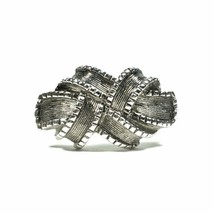 "Vintage Avon Antiqued Silver Tone ""RIBBON"" Bow Knot Ring Size Small (4.5... - $13.98"