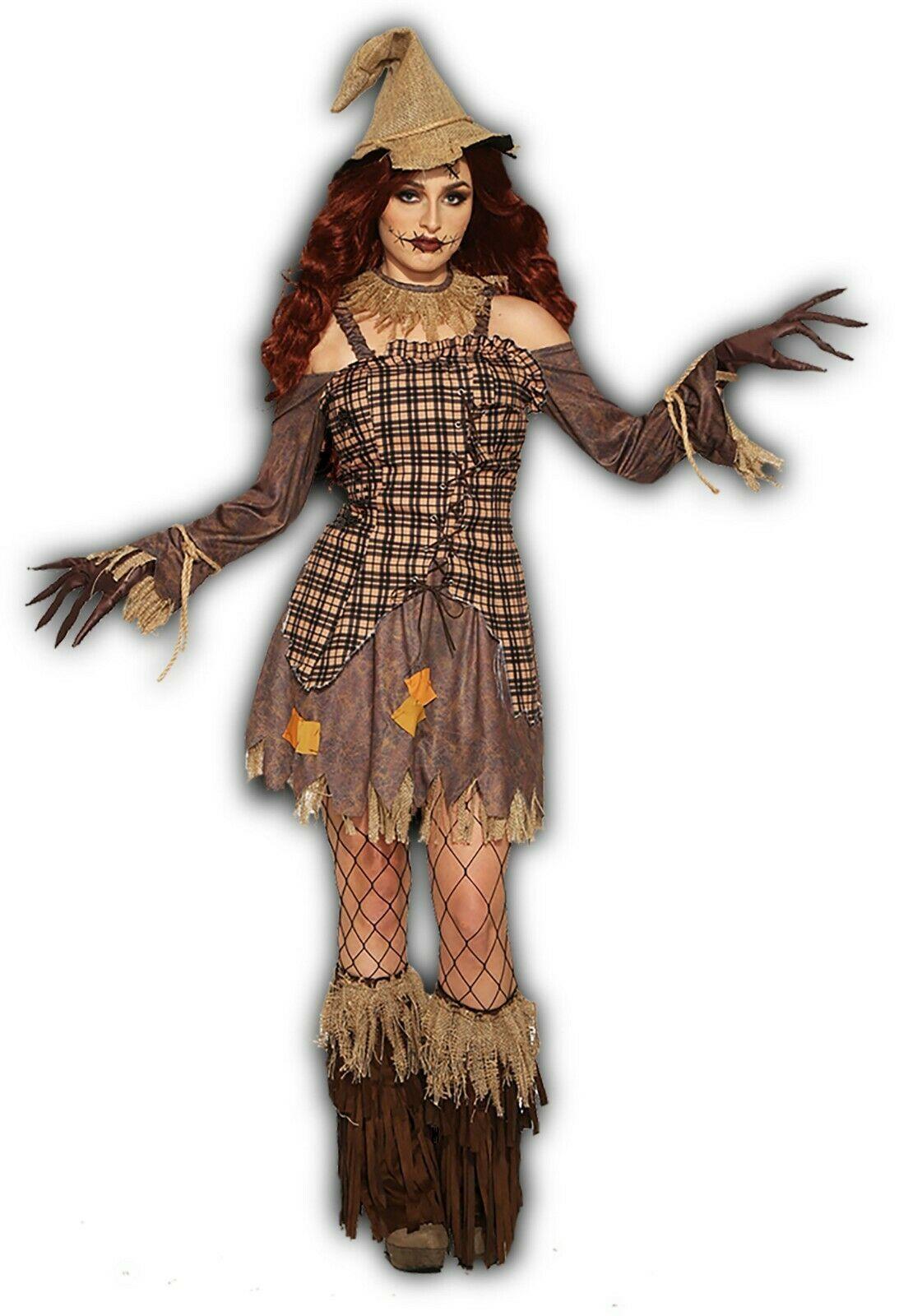 Forum Novelties Ernte Vogelscheuche Kleid Adult Damen Halloween Kostüm 83937