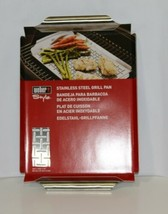 Weber Style 6435 Stainless Steel Grill Pan Slitted Durable image 1