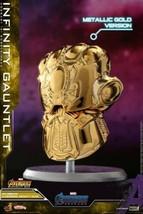 Avengers Endgame Hot Toys Cosbaby Infinity Gauntlet Metallic Gold Versio... - $19.79