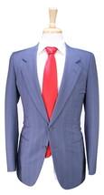 * ERMENEGILDO ZEGNA * Vintage 70's Sky Blue w/ Red Stripes 2-Btn Wool Su... - $105.00