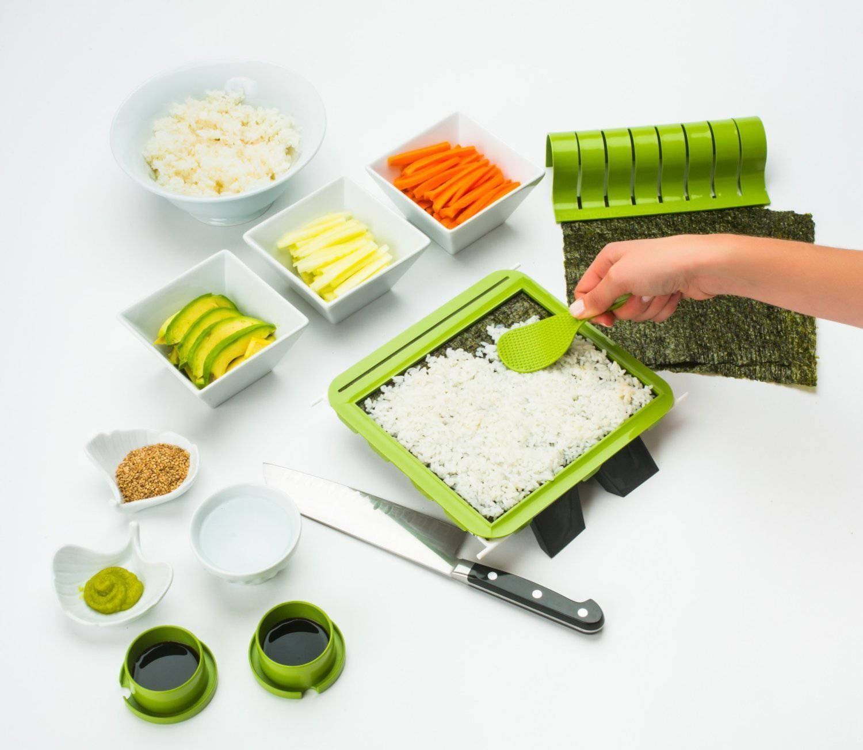 Sushi Making Kit DIY Easy Sushi Maker Machine Set Rice Roller Mold Cutter