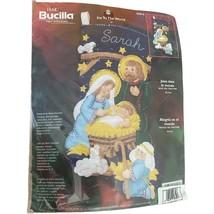 "Bucilla Christmas Stocking Felt Applique Kit JOY TO THE WORLD 84816 Nativity 18"" - $48.99"