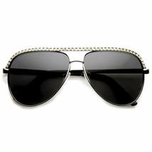Diseñador Bling Vintage Pedrería Semi Rim Moda Mujer Gafas de Sol - $7.55