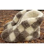 Heller Womens Slippers Sz XL 10 11 Sheep Wool Checkered Cozy House Sock ... - $38.59