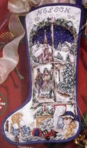 Janlynn Holiday Dreams Victorian Christmas Cross Stitch Stocking Kit 80-310 E - $156.95