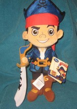 DISNEY STORE PLUSH JAKE NEVER LAND PIRATES 12 inch  BRAND NEW - $15.83