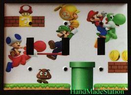 Super Mario brothers 3D Light Switch Duplex Outlet Wall Cover Plate home decor image 5