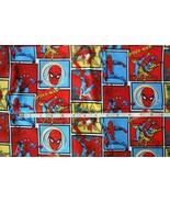 SPIDERMAN FABRIC SPIDEY MARVEL COMIC STRIP SUPER HERO 100% COTTON   1 1/2 yards - $14.84