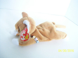 Plush Kitty cat Ty NIP w bracelet brown white Stuffed Animal 1993 pvc Al... - $9.89