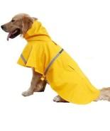 Kimfoxes Dog Raincoats Fashion Dog Rain Poncho Reflective Strips And PU... - $19.37