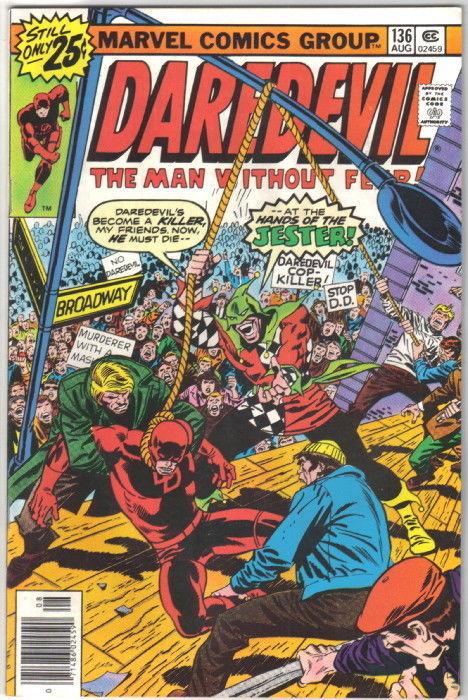 Daredevil Comic Book #136 Marvel Comics 1976 VERY GOOD+