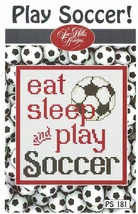 Play Soccer Post Stitches cross stitch chart Sue Hillis Design - $5.40