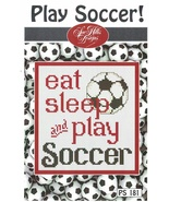 Play Soccer Post Stitches cross stitch chart Sue Hillis Design - $5.40