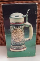 Avon 1978 Fishing Hunting Outdoors MIB Lidded Beer Stein Made Ceramarte ... - $11.30