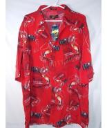 Boom X Hip Hop Popular Button Front Shirt Short Sleeve Red Mens XXL 2XL ... - $19.79