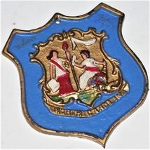 Seal of North Carolina - unusual metal decorative item - Rare, vintage,d... - $28.22