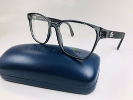 New LACOSTE L2818 035 Crystal Grey & Black Eyeglasses 53mm with Lacoste Case - $74.20
