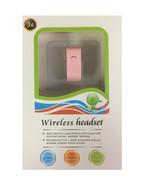 3G Bluetooth 3.0 Wireless Headset Handsfree Voice Dialing Pink - $6.92