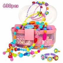Pop Beads Jewelry Making Kit for Kids, Arts and Crafts Toys Gifts for Girls Age
