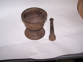 Pharmacy Mortar Pestle Antique Advertising Drug Store USA Cast Iron - $99.99