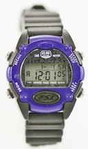 Fossil Watch Womens Purple Black 24hr Light Alarm Timer Chrono 100m Quartz - $24.04