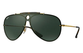 Ray Ban BLAZE Sunglasses RB3581N 001/71 Gold Frame W/ Green Classic Lens 32-140 - $89.09