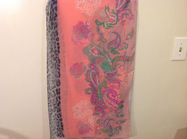 Paisley, Lines, Leopard Print Summer Sheer Fabric Multicolor Scarf, 6 colors image 5