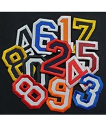 """Numbers College Varsity Letterman Embroidered Iron On Patch 3"""" Varsity Jacket - $6.87"""