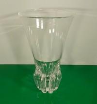 "Steuben Art Glass 1942 George Thompson Design LOTUS Vase Signed Crystal 10"" - $247.45"