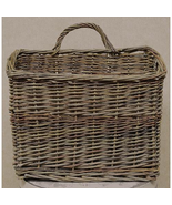 """Willow Wall Basket, 11"""" x 13"""" Flat back Floral planter Giftng - $39.59"""
