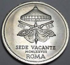 Vatican Silver Medal Pope Joanne Pavlvs I~John Paul I~Sede Vacante ROMA~Fr/Ship - $26.23