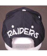 Vtg RAIDERS Hat-Oakland L.A.-Black Silver-NFL Football-Embroidered- - $71.05