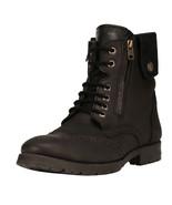 LibertyZeno Men's Genuine Leather Lace Up Zipper Casual Boots L-Jerry01 - $64.79