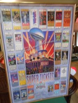Great Collectible Poster- Super Bowl Xxvii 1993 Rose Bowl Super Tickets - $17.41