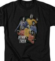 Star Trek Retro 60's original crew Kirk Spock & McCoy graphic t-shirt CBS1159 image 3