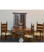 1 Set Dining Room Walnut Dollhouse Miniature Wood 1:12 inch scale - DL - $126.00