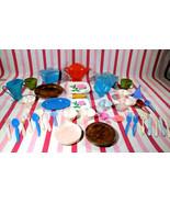 Wonderful Vintage IRWIN Child's 50+ Plastic Dishes Cups Flatware Cassero... - $10.00
