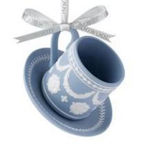 WEDGWOOD BLUE JASPER TEA CUP ORNAMENT NEW IN THE BOX - $49.49