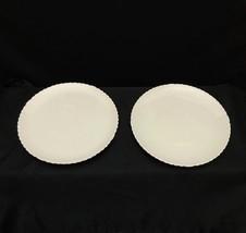 "2 American Belleek Willets Plain & Simple Scalloped 7 1/2"" Plates 1884-1909 - $29.95"