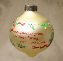 Vintage 1991 Hallmark Keepsake Grandmother Christmas Tree Ornament - $15.82