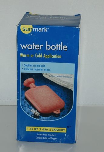 Sunmark 1142926 Water Bottle Warm Cold Application Latex Free Product