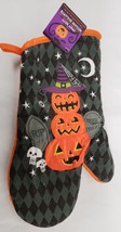 "Printed Kitchen 13"" Large Oven Mitt, Halloween's Pumpkin Snowman, Orange Back,Gr - $7.91"