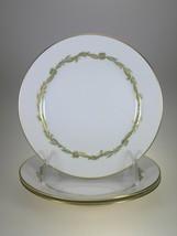 Rosenthal Continental Goldcrest Emerald Bread & Butter Plates Set of 3 - $19.31