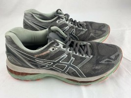 Asics Gel-Nimbus 19 Running Carbon White Coral Shoe Womens Size 8 T750N  - $19.79